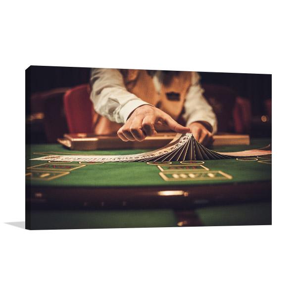 Gambling Table Canvas Art