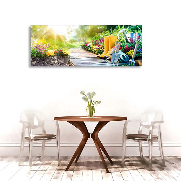 Gardener And Flowerpots Prints Canvas