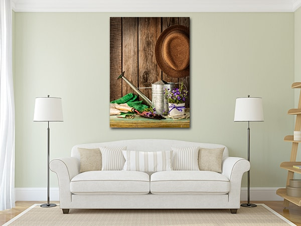 Gardening Tools Canvas Prints on the Wall