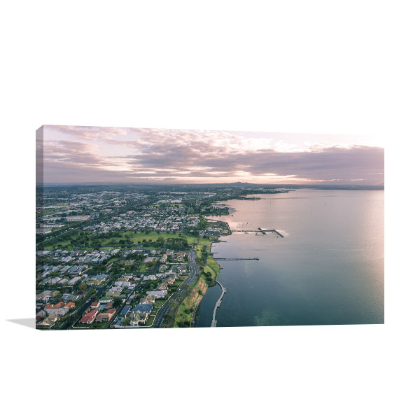 Geelong Art Print Aerial View of City