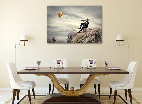 Gentleman At Mountain Artwork