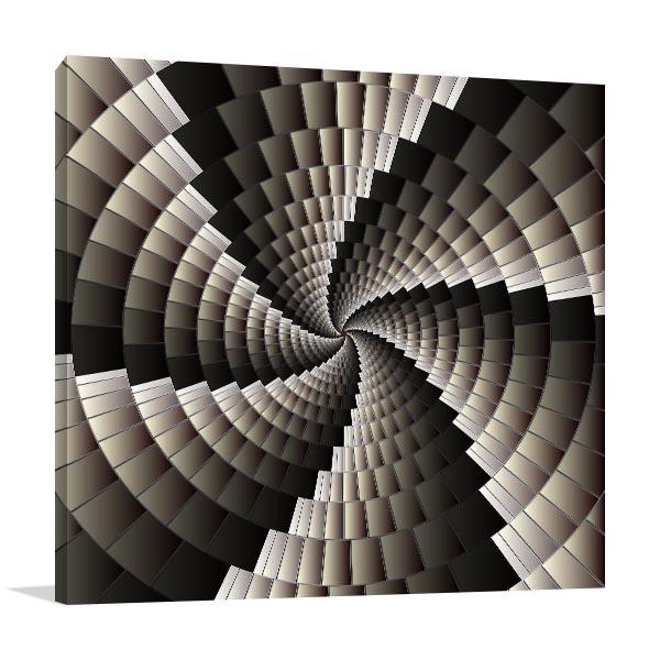 Geometric Spiral Print Artwork