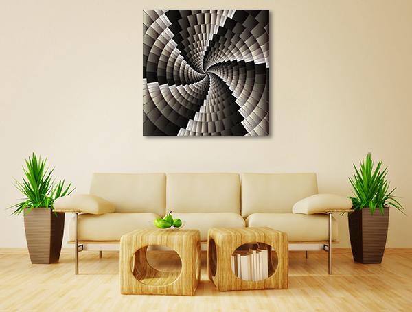 Geometric Spiral Artwork