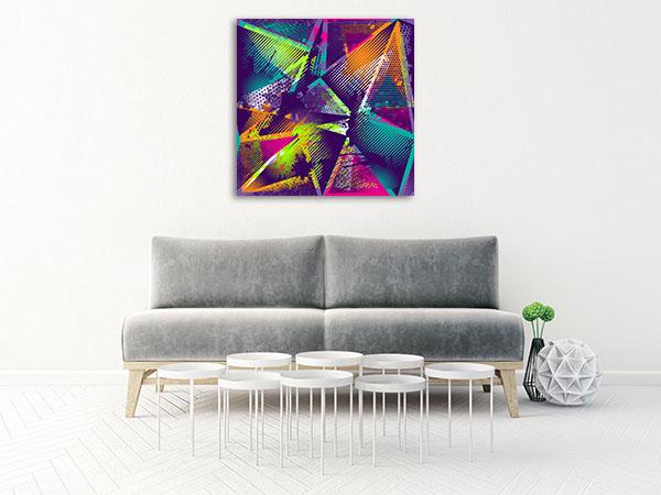Geometric Urban Pattern Canvas Art