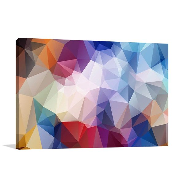 Geometrical Rainbow Wall Print