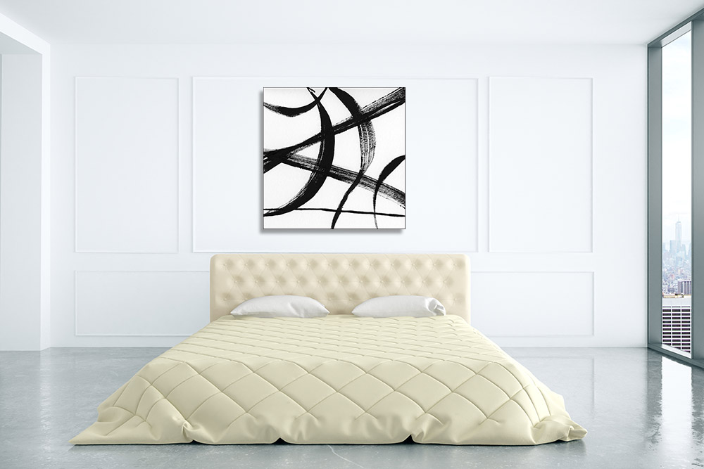 Black and White Canvas Abstract Art