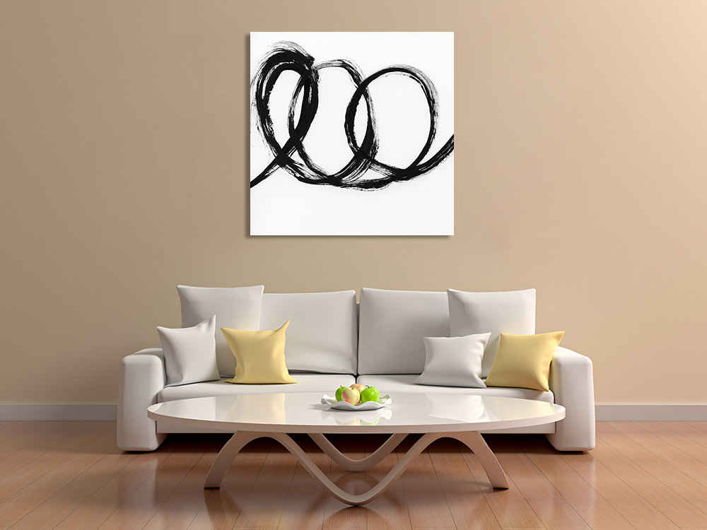 Canvas Print Contemporary Black and White