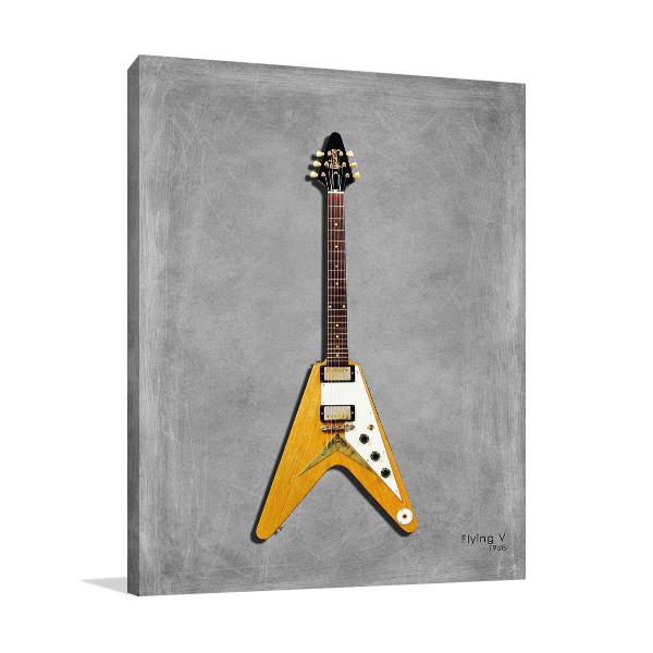 Gibson Flying V Wall Art Print