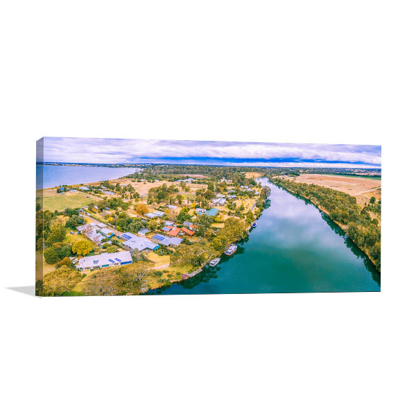 Gippsland Art Print Aerial View Picture Artwork