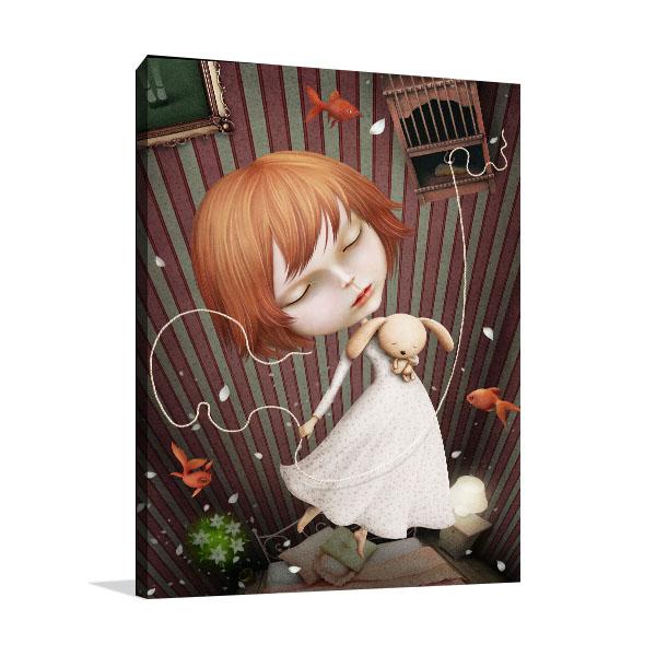 Girl Dreamcatcher Canvas Art Prints