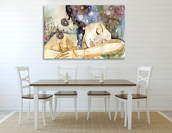 Girl Sleeping Wall Art