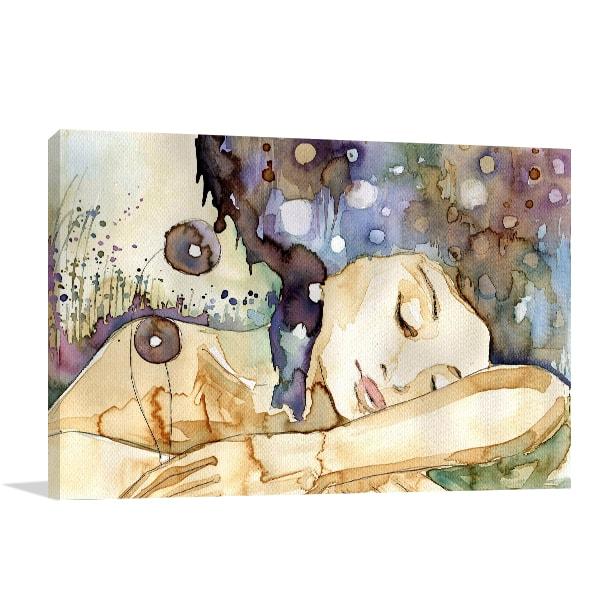 Girl Sleeping Print Artwork