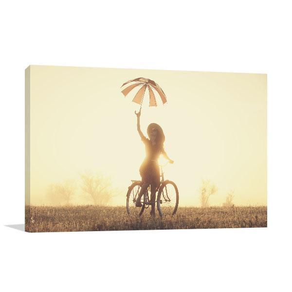Girl with Umbrella Artwork