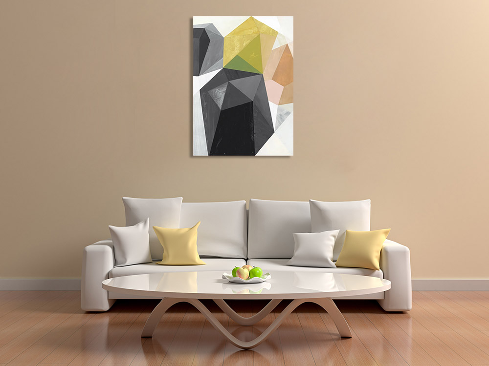 Contemporary Shapes Geometric Canvas Print