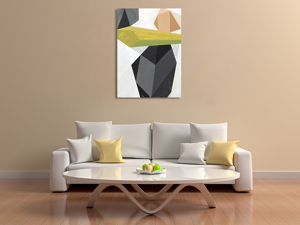 Geometric Shapes Print on Canvas