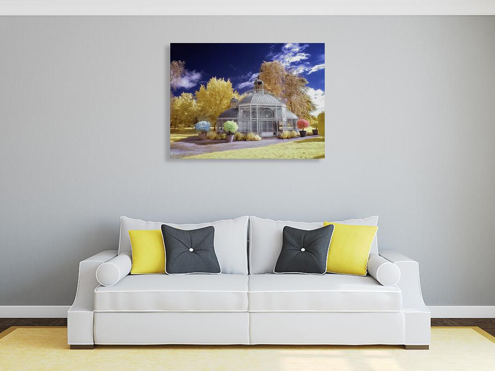 Blue Gold Wall Art Print