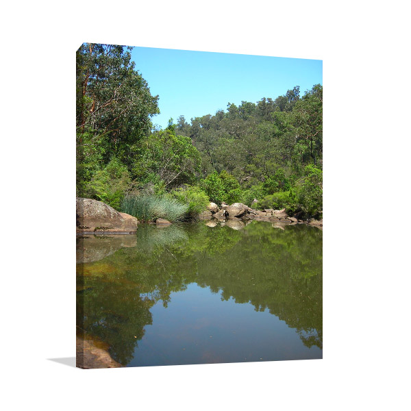 Glenbrook Art Print Blue Pool NSW Picture Artwork
