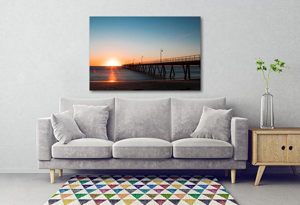 Glenelg Jetty Sunrise Art Prints