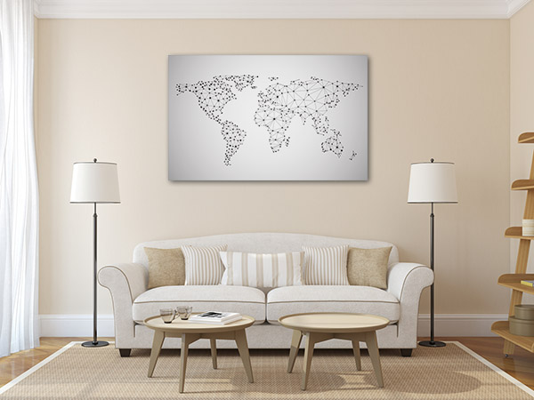 Global Network Map Prints Canvas