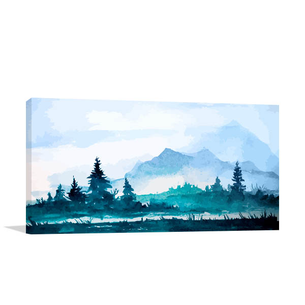 Gloomy Mountains Art Prints