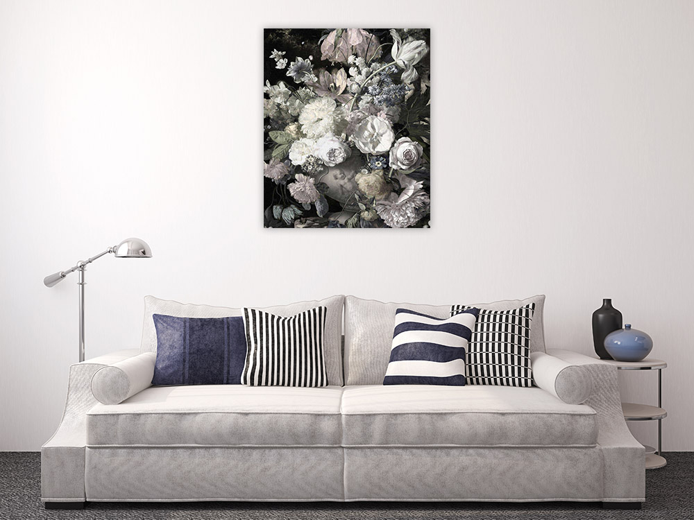 Floral Portrait Wall Art on Canvas