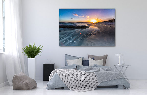 Glorious Sunset At Albany Canvas Prints