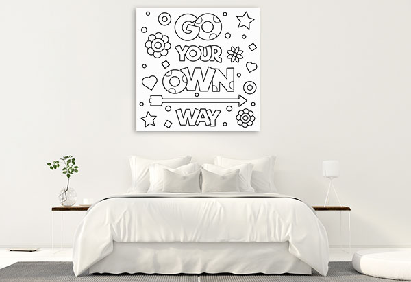 Go Your Own Way Wall Art
