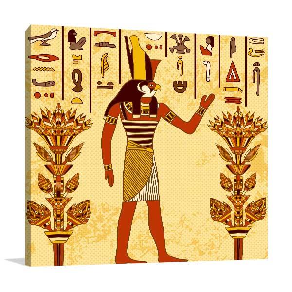 God of Ancient Egypt Canvas Art Prints