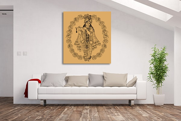 Goddess in Buds Canvas Prints
