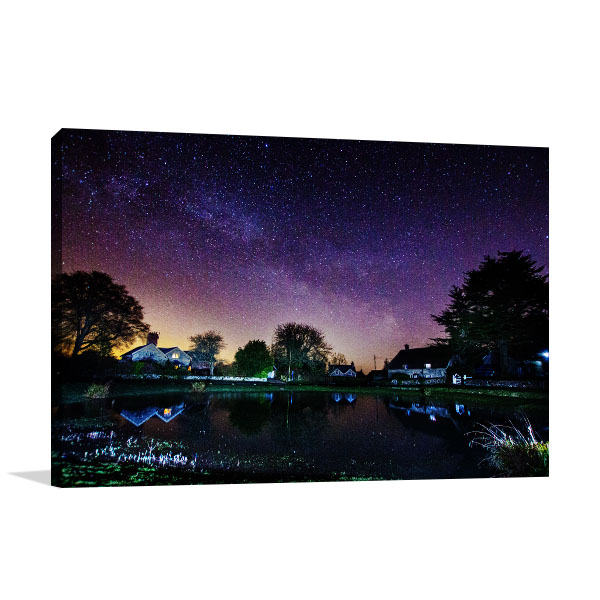 Gold Coast Art Print Ashmore Pond at Night