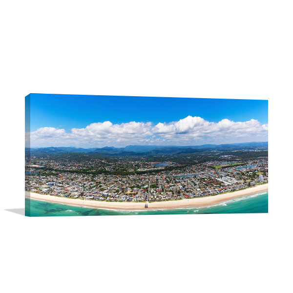 Gold Coast Art Print Sunny Palm Beach