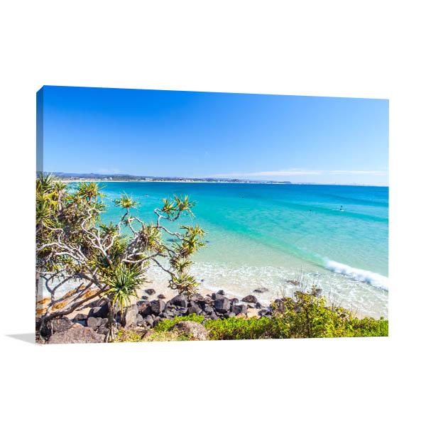 Gold Coast Canvas Print Greenmount Beach Art Picture