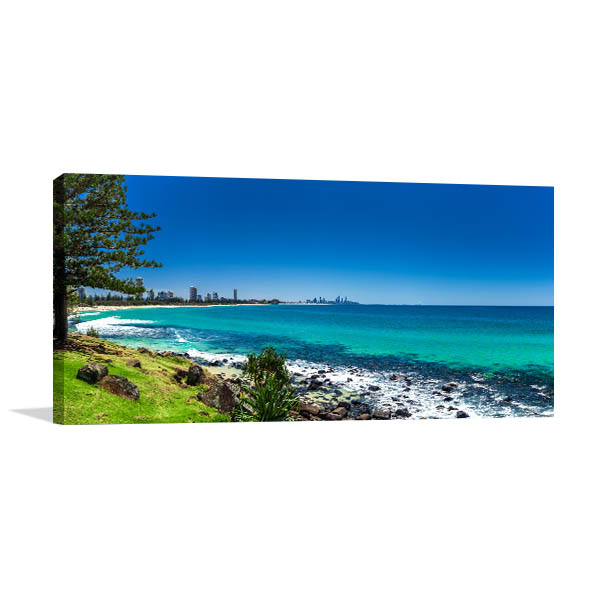 Gold Coast Skyline Surfing Beach Print Artwork