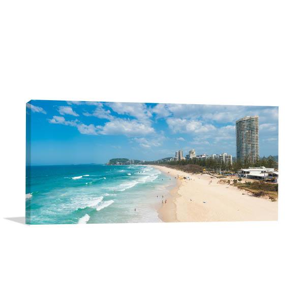 Gold Coast Wall Art Print Beach Aerial Canvas Artwork