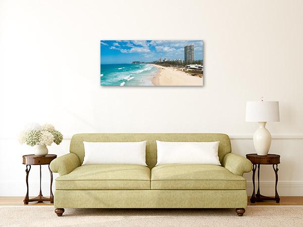 Gold Coast Wall Art Print Beach Aerial Photo Artwork