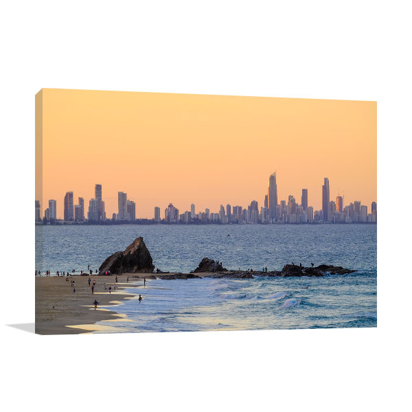 Gold Coast  Wall Art Print Currumbin