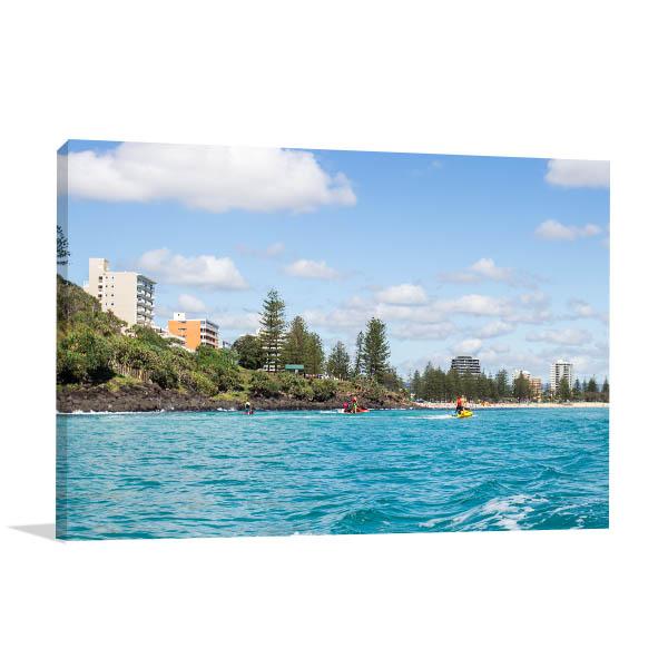 Gold Coast Wall Art Print Palm Beach Canvas Photo
