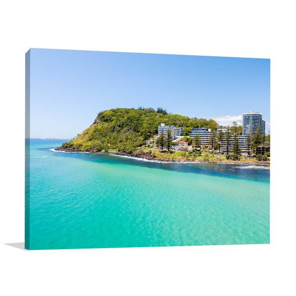 Gold Coast Wall Print Burleigh Heads Aerial Artwork Canvas