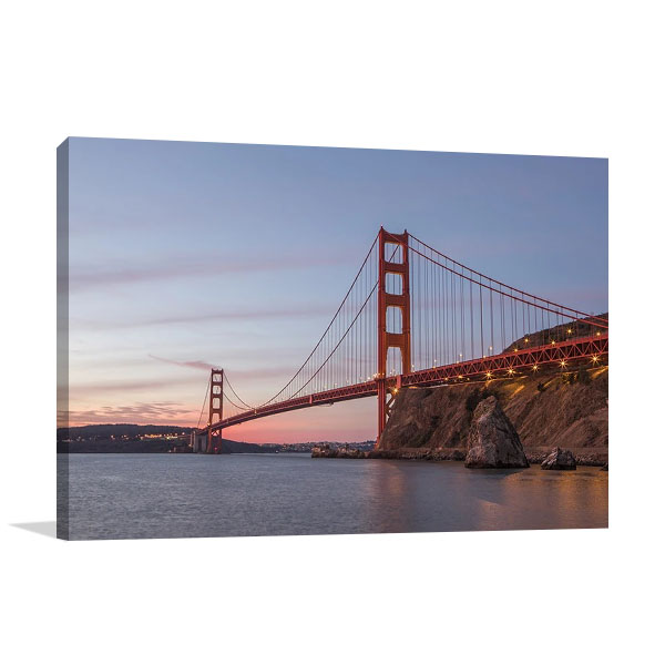 Golden Gate Span Canvas Print | Aaron Matheson