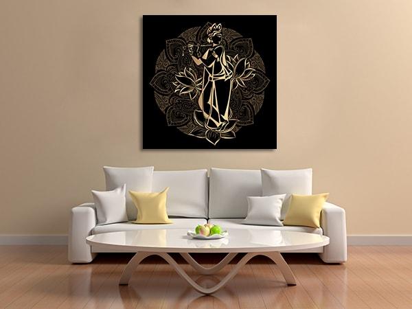 Golden Krishnas Wall Art Print
