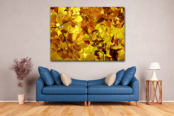 Golden Leaf Wall Art