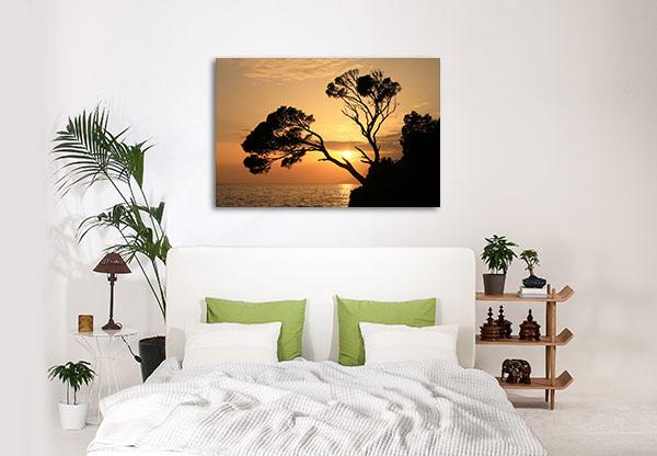 Golden Sunset In Brela Art Prints