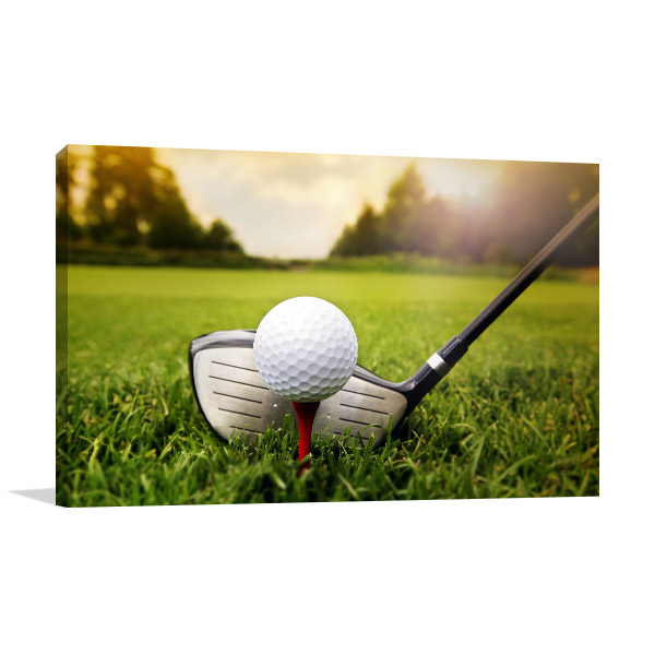 Golf Club And Ball Prints Canvas