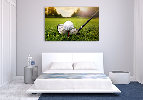 Golf Club And Ball Art Prints