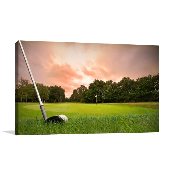 Golf Club  Print Artwork