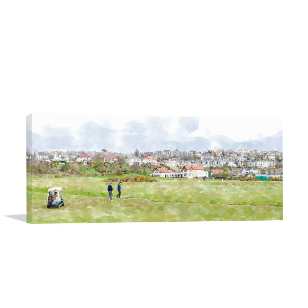 Golfers at Clubhouse Canvas Art Prints