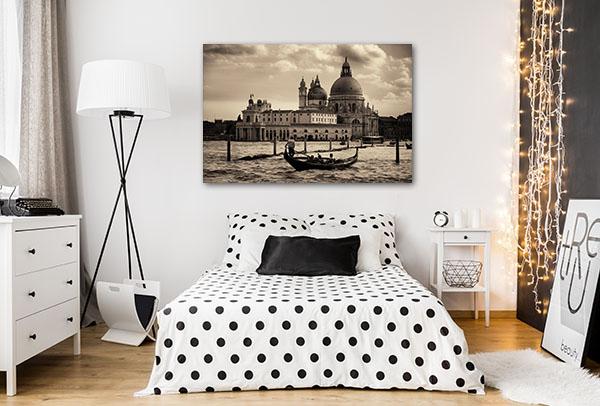 Gondola and Venice Church Canvas Prints