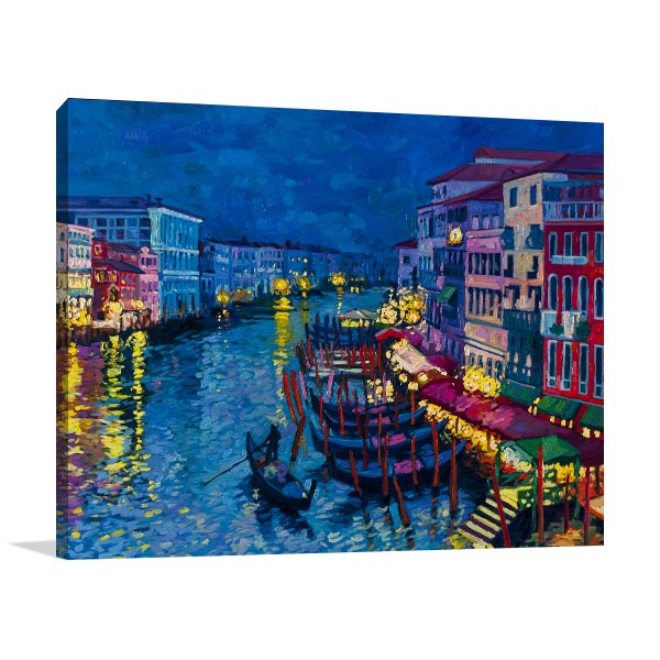 Gondolas At Night Artwork