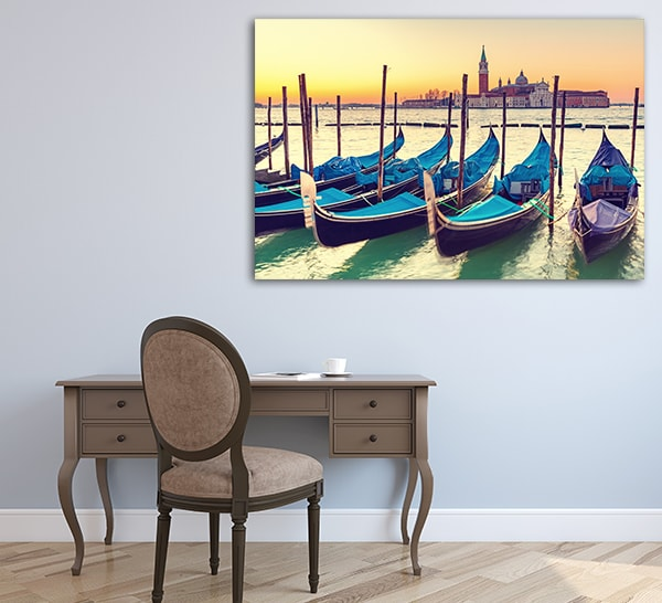 Gondolas in Venice Canvas Prints on the Wall