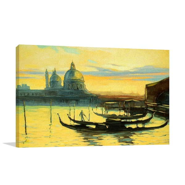 Gondolas Watercolour Canvas Prints